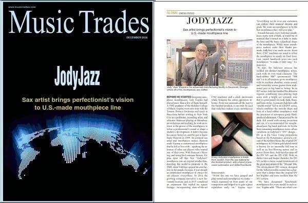 Image of JodyJazz Music Trades Article