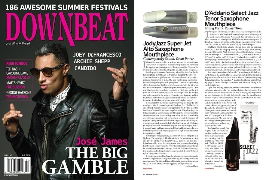 Image of Downbeat May 2017 Cover and SUPER JET review