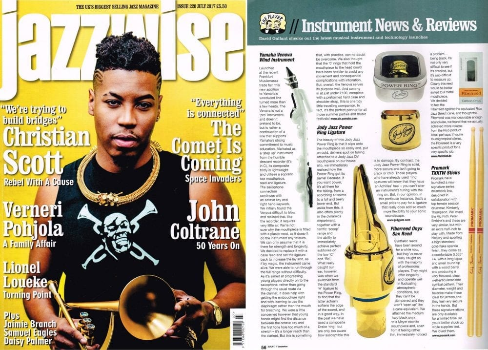 Jazzwise Review of POWER RING Ligature